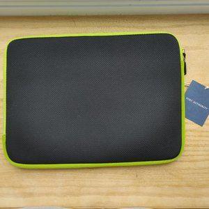 PORT AUTHORITY black green zippered laptop sleeve
